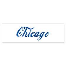 Chicago (cursive) Bumper Car Sticker