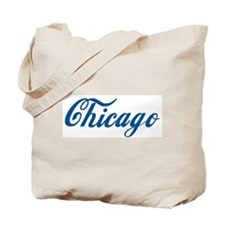 Chicago (cursive) Tote Bag