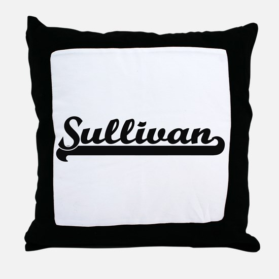 Sullivan surname classic retro design Throw Pillow