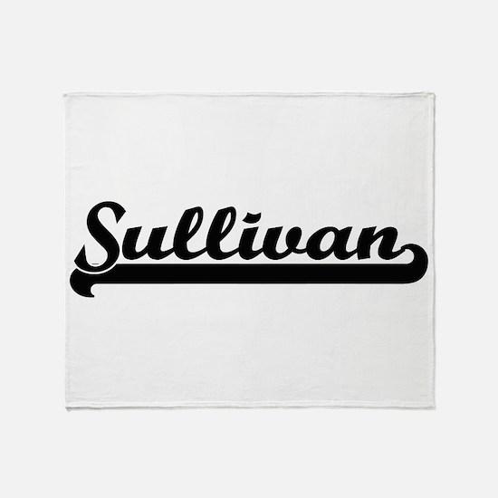 Sullivan surname classic retro desig Throw Blanket