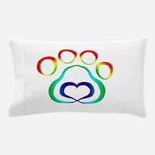 Rainbow Paw Pillow Case