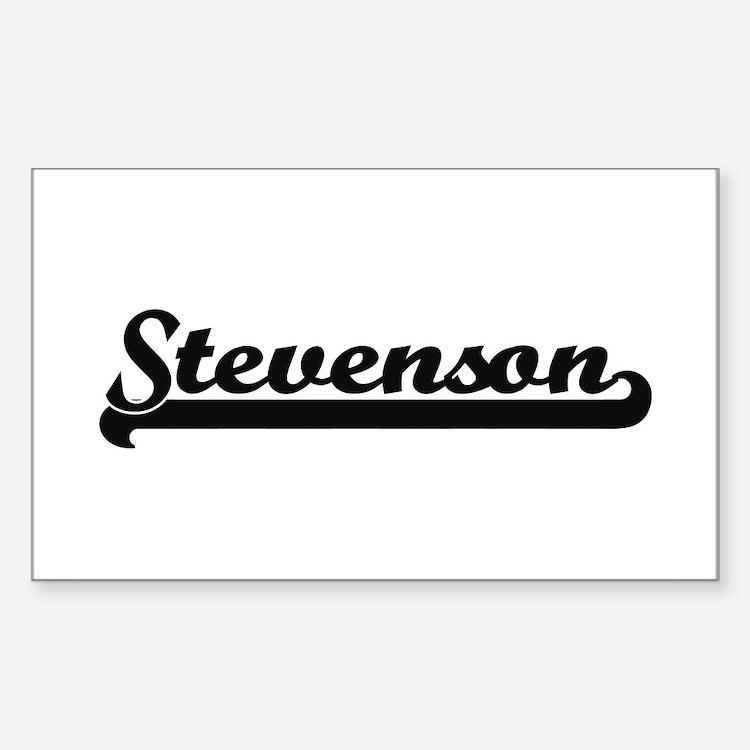 Stevenson surname classic retro design Decal