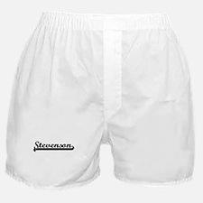 Stevenson surname classic retro desig Boxer Shorts