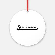 Stevenson surname classic retro d Ornament (Round)