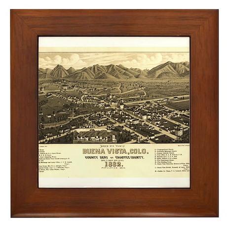 Buena Vista, Colorado. 1882 Framed Tile