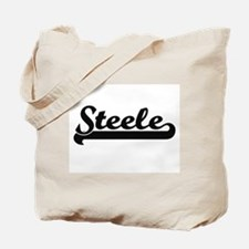 Steele surname classic retro design Tote Bag