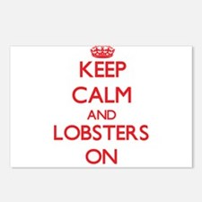 Keep calm and Lobsters On Postcards (Package of 8)