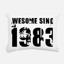 Awesome Since 83 Rectangular Canvas Pillow