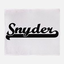 Snyder surname classic retro design Throw Blanket