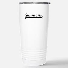 Simmons surname classic Stainless Steel Travel Mug
