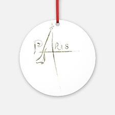 Paris Foil 01 Ornament (Round)