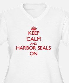 Keep calm and Harbor Seals On Plus Size T-Shirt