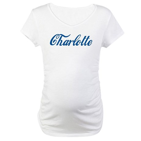 Charlotte (cursive) Maternity T-Shirt