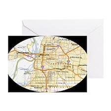 Memphis Map Greeting Cards (Pk of 20)