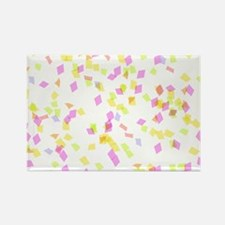 Pink and Yellow Confetti Magnets