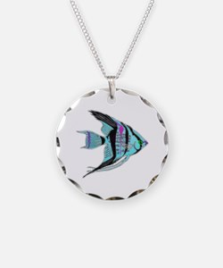 Tribal Blue Angel Fish Necklace