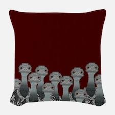 Emu Woven Throw Pillow