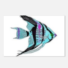 Tribal Blue Angel Fish Postcards (Package of 8)