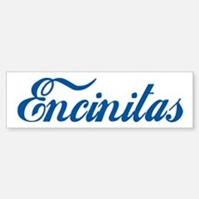 Encinitas (cursive) Bumper Car Car Sticker