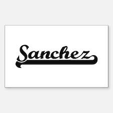 Sanchez surname classic retro design Decal