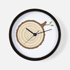 Tree Stump Wall Clock