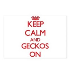 Keep calm and Geckos On Postcards (Package of 8)