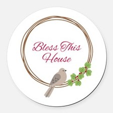 Bless This House Round Car Magnet