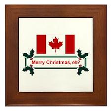 Canadian Christmas, eh? Framed Tile
