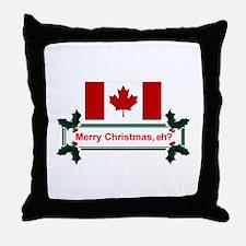 Canadian Christmas, eh? Throw Pillow
