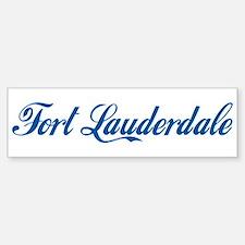 Fort Lauderdale (cursive) Bumper Bumper Bumper Sticker