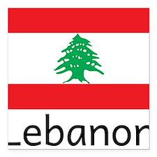 """Lebanon Square Car Magnet 3"""" x 3"""""""