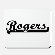Rogers surname classic retro design Mousepad