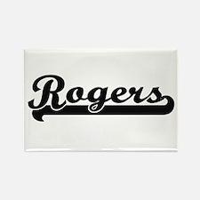 Rogers surname classic retro design Magnets
