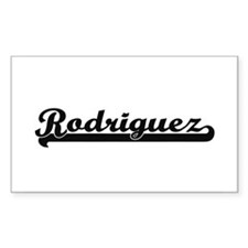 Rodriguez surname classic retro design Decal