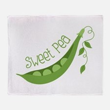 Sweet Pea Throw Blanket
