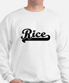Rice surname classic retro design Sweatshirt