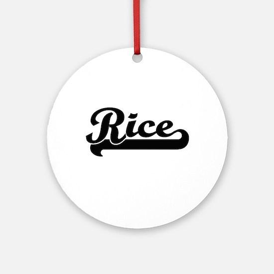 Rice surname classic retro design Ornament (Round)