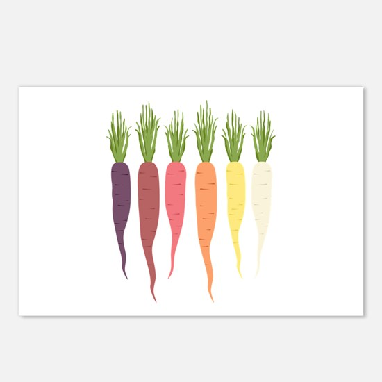 Rainbow Carrots Postcards (Package of 8)