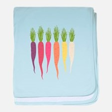 Rainbow Carrots baby blanket