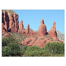 Rocks near Sedona, Arizona 2 Poster
