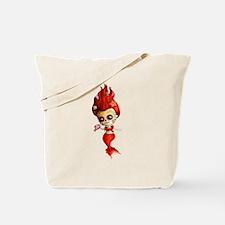 Dia de Los Muertos Mermaid Girl Tote Bag