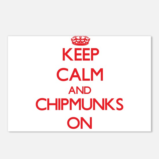 Keep calm and Chipmunks O Postcards (Package of 8)