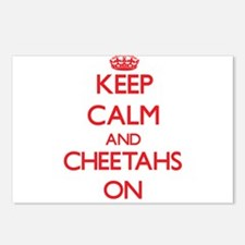 Keep calm and Cheetahs On Postcards (Package of 8)