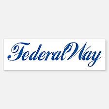 Federal Way (cursive) Bumper Bumper Bumper Sticker