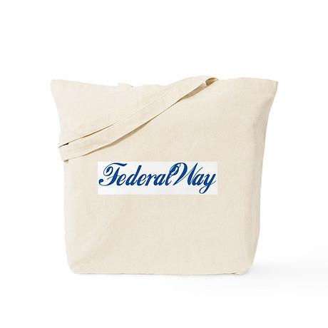 Federal Way (cursive) Tote Bag