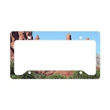 Rocks near Sedona, Arizona 2 License Plate Holder