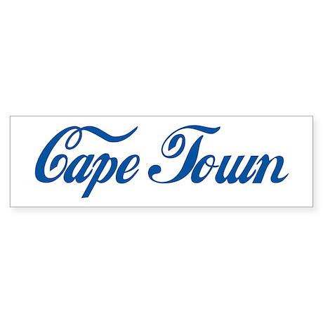 Cape Town (cursive) Bumper Sticker