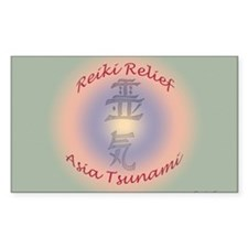 Reiki Relief - Asia Tsunami Rectangle Decal