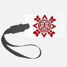 Red Haida Sun God Luggage Tag