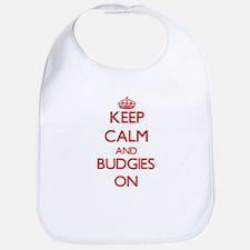 Keep calm and Budgies On Bib
